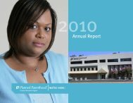 FY2010 Annual Report - Planned Parenthood