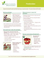 Pesticides - Planned Parenthood