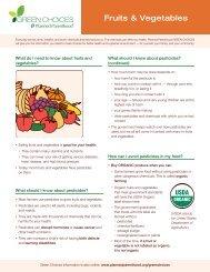 Fruits & Vegetables - Planned Parenthood
