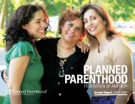 Annual Report 2006–2007 - Planned Parenthood