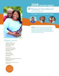 2008annual report - Planned Parenthood