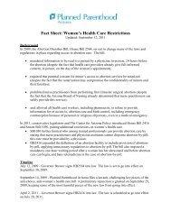 Fact Sheet - Planned Parenthood