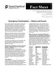 Emergency Contraception — History and Access - Planned ...