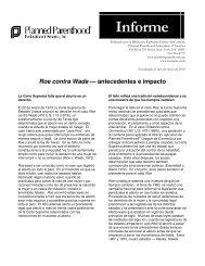 Roe contra Wade — Antecedentes e Impacto - Planned Parenthood