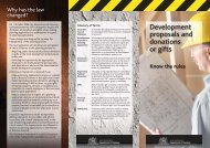 Development proposals and donations or gifts - Department of ...