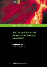 The science of the brands: Alchemy, advertising and accountancy