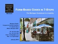 FORM-BASED CODES IN 7-STEPS - Michigan Society of Planning