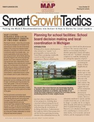 Planning for schools Part I - Michigan Society of Planning