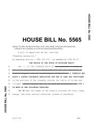 HOUSE BILL No. 5565 - Michigan Society of Planning