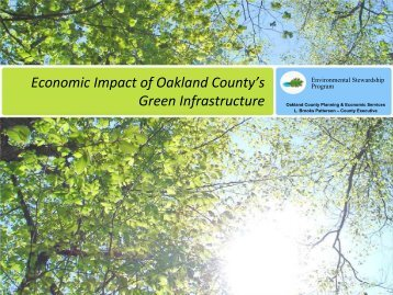 Economic Impact of Oakland County's Green Infrastructure