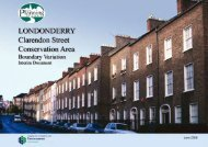 Londonderry Conservation Area: Clarendon Street Boundary ...