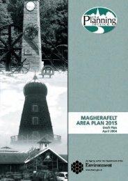 Magherafelt Area Plan 2015: Draft Plan - The Planning Service