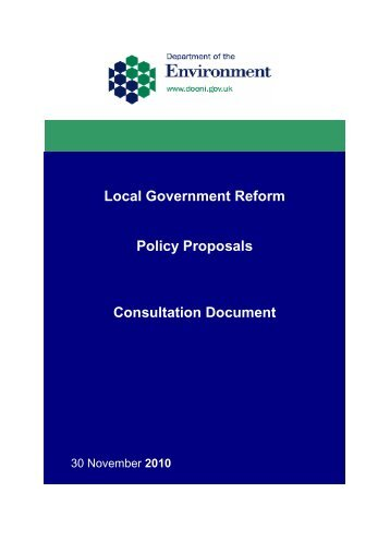 Local Government Reform - Consultation on Policy Proposals