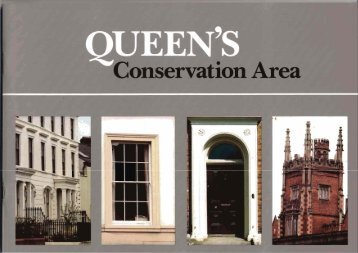 Queens Conservation Area: March 1987 - The Planning Service