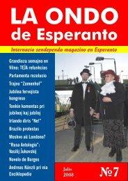 La Ondo de Esperanto, 2008, n-ro 7 - Plansprachen.ch