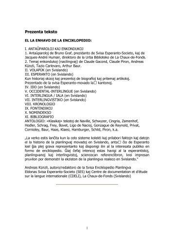 Svisa Enciklopedia Planlingva - Plansprachen.ch