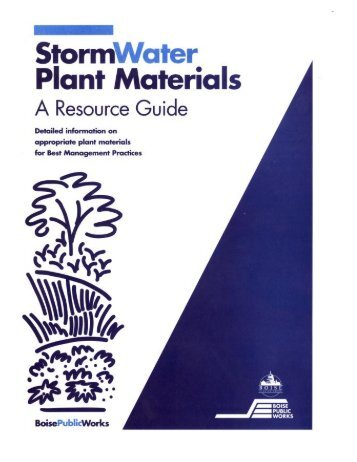 Storm Water Plant Materials A Resource Guide