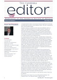 The Canberra editor April-May 2014