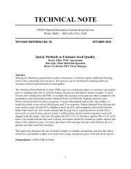 Idaho Plant Materials Technical Note No. 35, Quick Method to ...
