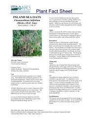Plant Fact Sheet - Plant Materials Program - US Department of ...