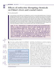Effects of endocrine disrupting chemicals on China's rivers and ...