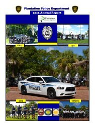 Annual Report - City of Plantation