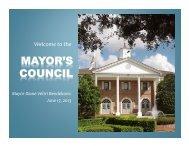 June 17, 2013 Mayor's Council - City of Plantation