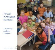 Plantation schools BOOKCOVERS_Layout 1 - City of Plantation