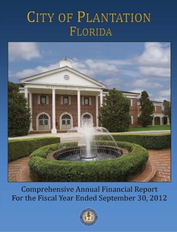Comprehensive Annual Financial Report (CAFR) - MyFlorida.com