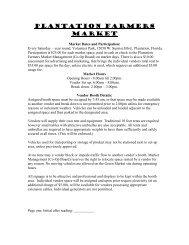 Vendor Application - City of Plantation