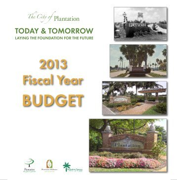 City of Plantation FY2013 Adopted Budget