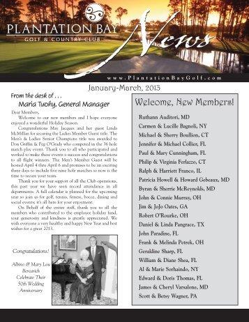 January-March 2013 Club Newsletter - Plantation Bay - Golf ...