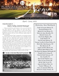 April-June 2013 Club Newsletter - Plantation Bay - Golf & Country ...
