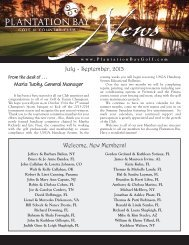 July-September 2013 Club Newsletter - Plantation Bay - Golf ...