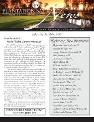 September 2012 - Plantation Bay - Golf & Country Club