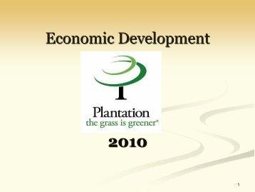 Economic Development 2010 - City of Plantation