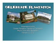 CELEBRATE PLANTATION - City of Plantation