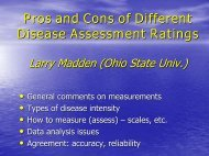 Pros and Cons of Different Disease Assessment Ratings - Plant ...