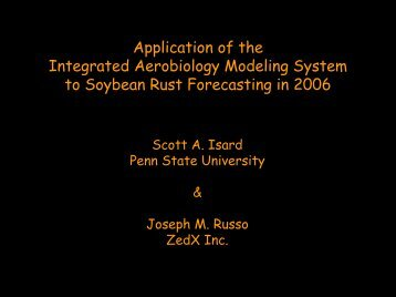 Application of the Integrated Aerobiology Modeling System to ...
