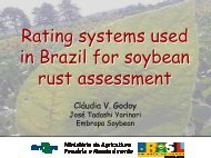 Rating systems used in Brazil for soybean rust assessment - Plant ...