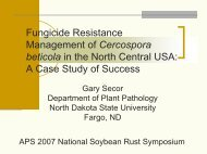 Sensitivity of Cercospora beticola to Foliar fungicides in 2003 - Plant ...