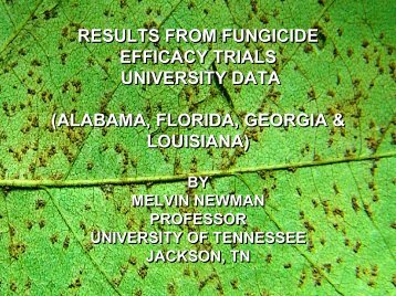results from fungicide efficacy trials university data - Plant ...