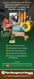 APPLIED, ONLINE, PEER REVIEWED Agricultural and Horticultural ...