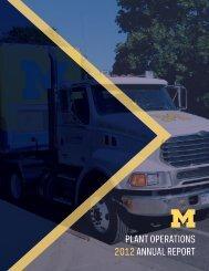 Annual Report 2011-2012 - Plant Operations - University of Michigan