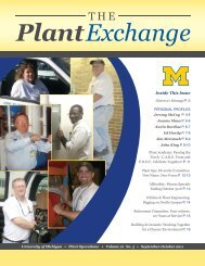 Inside This Issue - Plant Operations - University of Michigan