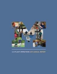 Annual Report 2010-2011 - Plant Operations - University of Michigan