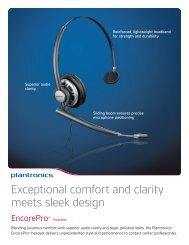 Exceptional comfort and clarity meets sleek design - Plantronics
