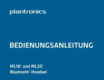 BEDIENUNGSANLEITUNG - Plantronics
