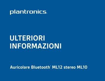 ULTERIORI INFORMAZIONI - Plantronics
