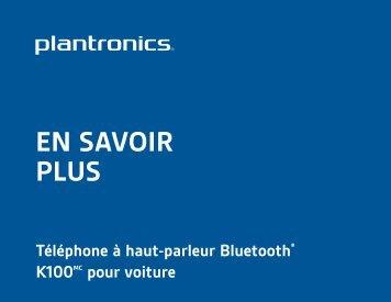 EN SAVOIR PLUS - Plantronics